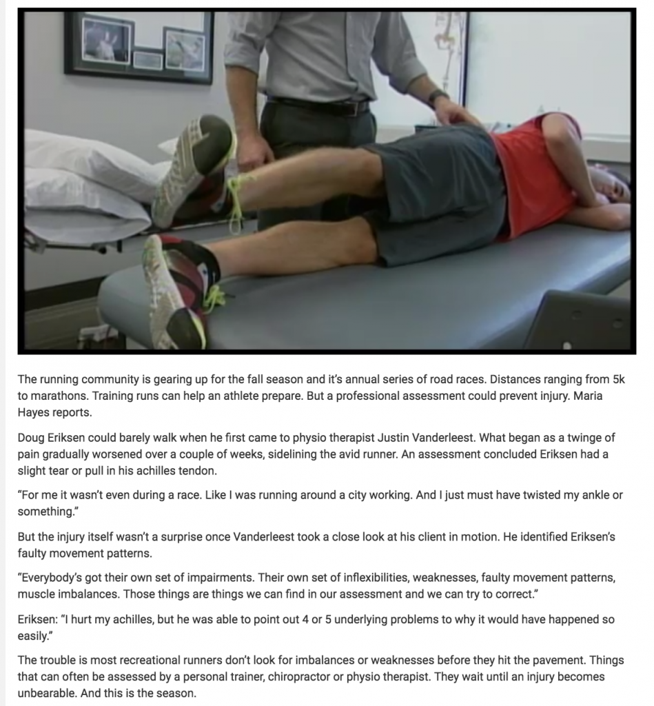 Justin Vanderleest, Physiotherapist - CHCH
