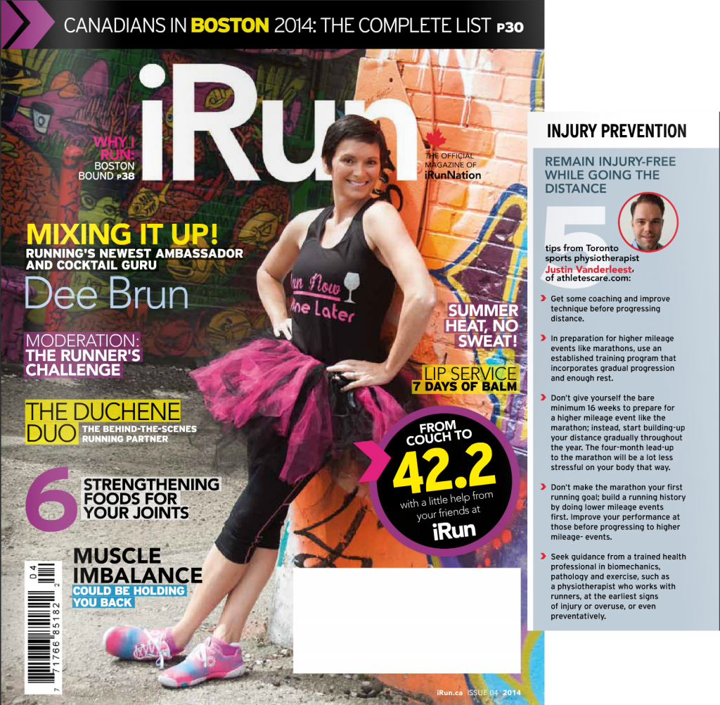 Justin Vanderleest, Physiotherapist - iRun magazine